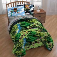 Minecraft Twin/Full Comforter in Green