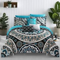 Chic Home Bryton 10-Piece Reversible Queen Comforter Set in Black