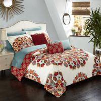 Chic Home Carlinville 10-Piece Reversible Queen Comforter Set in Red