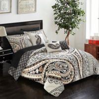 Chic Home Edmund 10-Piece Reversible King Comforter Set in Beige