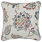 Croscill® Beckett Square Throw Pillow in Teal/Ivory