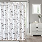 Marble 70-Inch x 84-Inch Shower Curtain in Silver