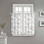 Marble Window Curtain Panel Pair in Silver