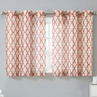 Hookless® Monaco 38-Inch x 45-Inch Window Curtain Tier Pair in Mango