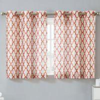 Hookless® Monaco 38-Inch x 45-Inch Window Curtain Tier Pair in Mango