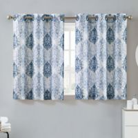 Hookless® Ikat 38-Inch x 45-Inch Window Curtain Tier Pair in Estate Blue