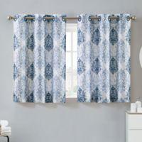 Hookless® Ikat 38-Inch x 45-Inch Window Curtain Tier Pair in Estate Blue
