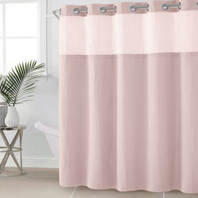 HooklessR Waffle Fabric 54 Inch X 80 Shower Curtain In Rosewater