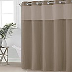 Hookless® Waffle Fabric 71-Inch x 74-Inch Shower Curtain in Desert Taupe