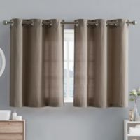 Hookless® Waffle Fabric 38-Inch x 45-Inch Window Curtain Tier Pair in Desert Taupe