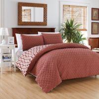 Chic Home Maritoni 2-Piece Reversible Twin Comforter Set in Brick
