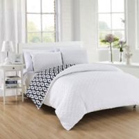 Chic Home Maritoni 3-Piece Reversible King Comforter Set in White