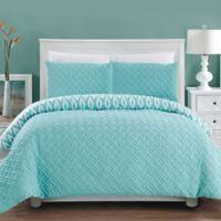 Chic Home Maritoni 3-Piece Reversible Queen Comforter Set in Aqua