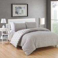 Chic Home Maritoni 3-Piece Reversible King Comforter Set in Silver