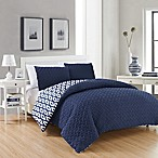 Chic Home Maritoni 3-Piece Reversible Queen Comforter Set in Navy