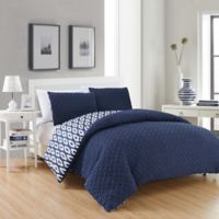 Chic Home Maritoni 2-Piece Reversible Twin Comforter Set in Navy