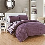 Chic Home Maritoni 3-Piece Reversible King Comforter Set in Purple