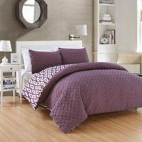 Chic Home Maritoni 3-Piece Reversible Queen Comforter Set in Purple