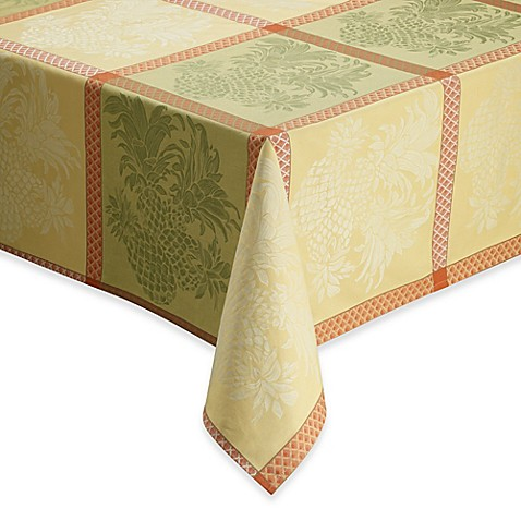 Tommy Bahama 174 Home Pineapple Jacquard Tablecloth And