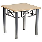 Flash Furniture Natural Laminate End Table with Silver Frame
