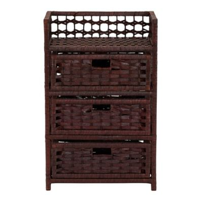 Product Image For Household Essentials® 3 Drawer Wicker Storage Chest 3 Out  Of