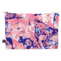 Deny Designs Marta Barragan Camarasa Exotic Marble II Medium Pouch in Pink