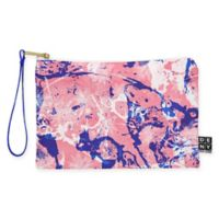 Deny Designs Marta Barragan Camarasa Exotic Marble II Small Pouch in Pink