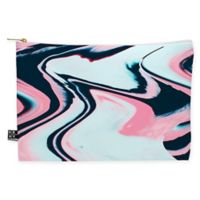 Deny Designs Marta Barragan Camarasa Marble Glitch Medium Pouch in Blue