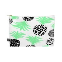 Deny Designs Rebecca Allen Classy Pineapples Medium Pouch in Green