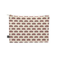 Deny Designs Wesley Bird Gap Tooth Girl Medium Pouch in Pink