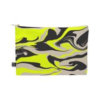 Deny Designs Wesley Bird Hypnotic Camo Medium Pouch in Yellow
