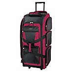 Traveler's Club Luggage 30-Inch Rolling Upright Duffle in Red