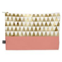 Deny Designs Georgiana Parashiv Gold Triangles Medium Pouch