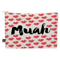 "Deny Designs Allyson Johnson ""Muah"" Medium Pouch in Red"