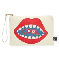 Deny Designs Nick Nelson Cool Mouth Small Pouch in Red
