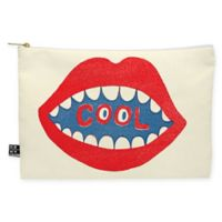 Deny Designs Nick Nelson Cool Mouth Medium Pouch in Red