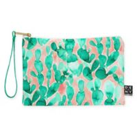 Deny Designs Jacqueline Maldonado Paddle Cactus Blush Small Pouch in Green