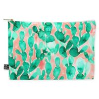 Deny Designs Jacqueline Maldonado Paddle Cactus Blush Medium Pouch in Green