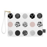 Deny Designs Kelly Haines Mixed Media Dots Small Pouch in Black