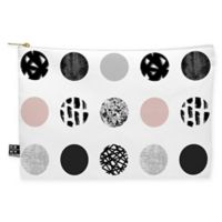 Deny Designs Kelly Haines Mixed Media Dots Medium Pouch in Black