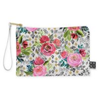 Deny Designs Marta Barragan Camarasa Floral Nature Geo Small Pouch in Pink