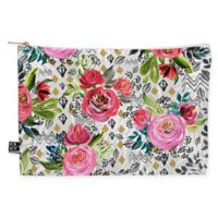 Deny Designs Marta Barragan Camarasa Floral Nature Geo Medium Pouch in Pink