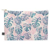 Deny Designs Dash and Ash Pinky Palms Medium Pouch in Pink