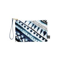 Deny Designs Amy Sia Indigo Stripe Small Pouch in Blue