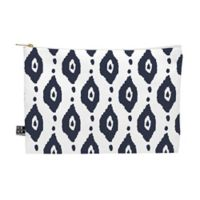 Deny Designs Allyson Johnson Navy Ikat Medium Pouch