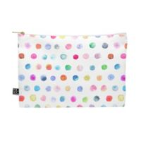 Deny Designs Stephanie Corfee Medium Watercolor Multidots Pouch in Blue