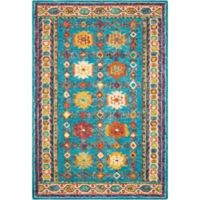 """Nourison Vibrant 8' x 10'6"""" Hand Tufted Area Rug in Teal"""
