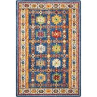 Nourison Vibrant 4' x6' Hand Tufted Area Rug in Navy