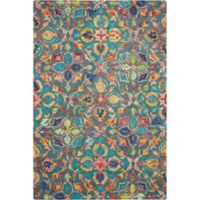 """Nourison Vibrant 5' x7'6"""" Hand Tufted Area Rug in Teal"""
