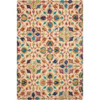 "Nourison Vibrant 5' x7'6"" Hand Tufted Area Rug in Ivory"